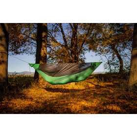 Ticket to the Moon Pro Hammock incl. zipable Mosquito Net and UHMPE Ridgeline, grøn